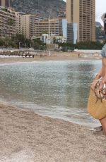JACQUELINE MACINNES WOOD in Bikini at a Beach in Monte Carlo 06/16/2016