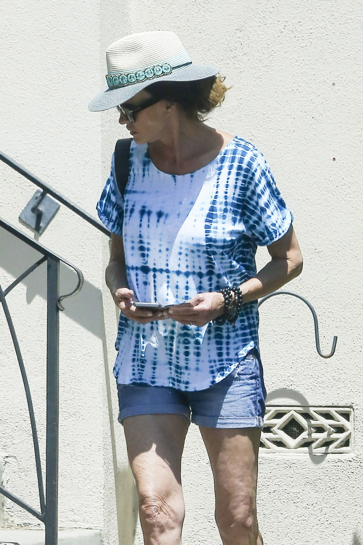 JANICE DICKINSON Leaves a Friends House in Los Angeles 06/22/2016