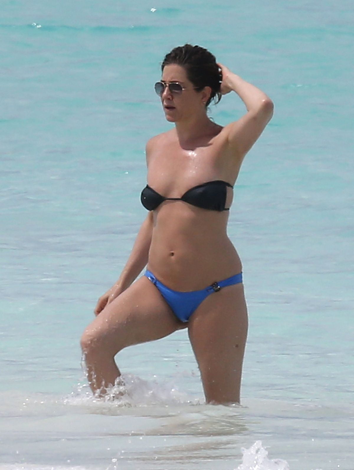 Jennifer Aniston In Bikini At A Beach In Bahamas June