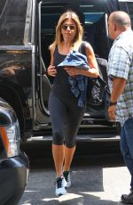 JENNIFER ANISTON in Leggings Arrives at a Gym in New York 06/21/2016