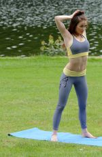 JESS IMPIAZZI Working Out a a Park in Leeds 06/25/2016
