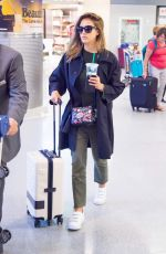 JESSICA ALBA at JFK Airport in New York 06/13/2016