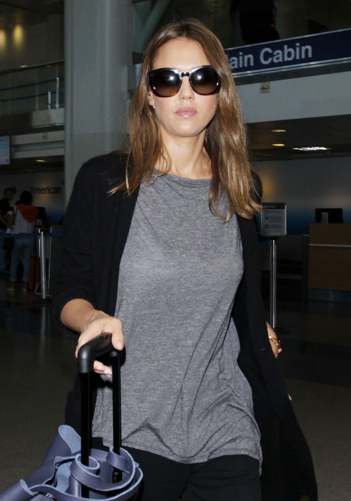 JESSICA ALBA at LAX Airport in Los Angeles 06/17/2016