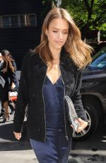 JESSICA ALBA Out in New York 06/14/2016