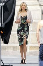 JESSICA HART on the Set of a Photoshoot in New York 06/21/2016