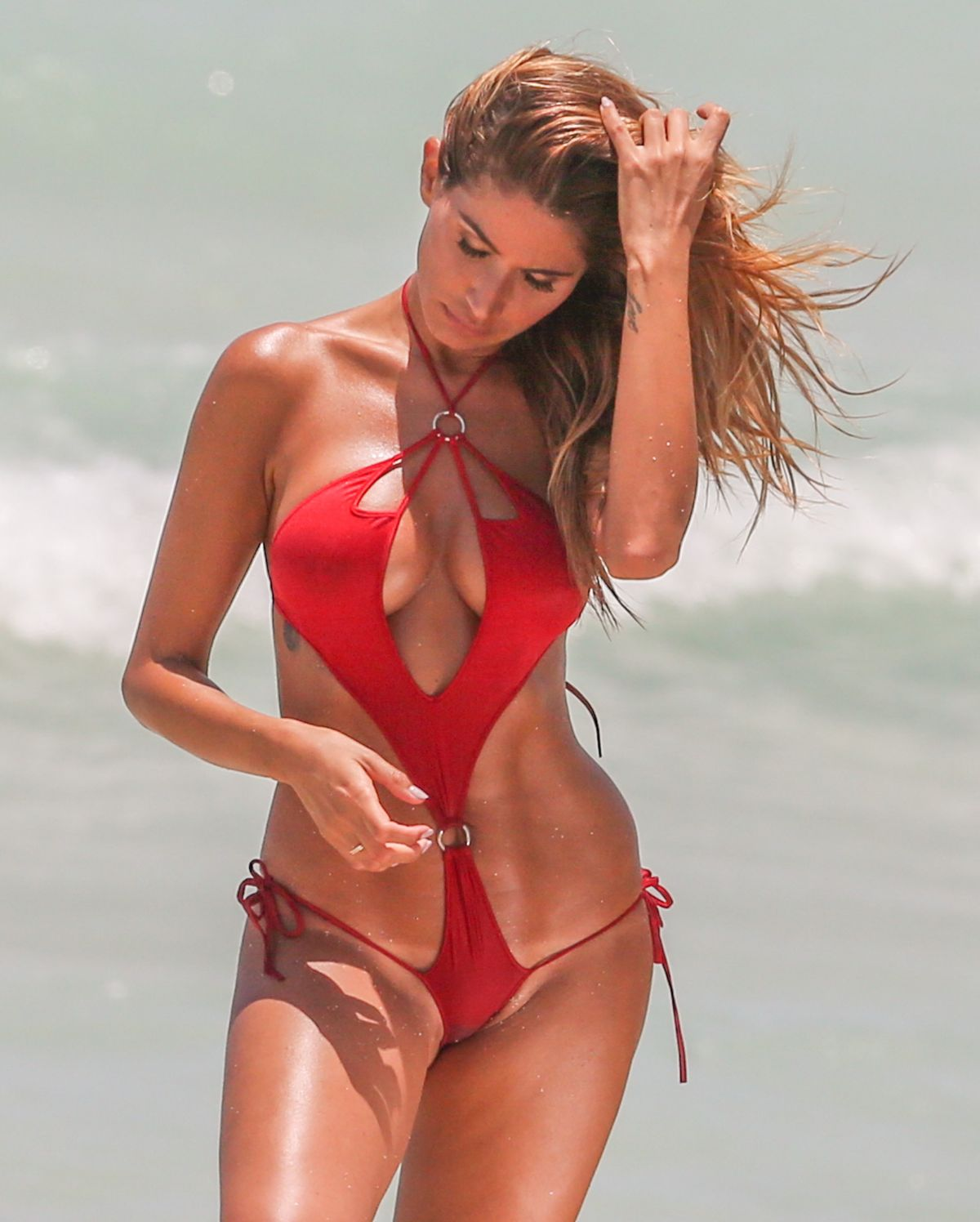JULIANA PROVEN in Bikini on a Photoshoot at a Beach in Malibu 06/20/2016