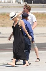 KALEY CUOCO Boarding at a Private Jet in Van Nuys 06/20/2016