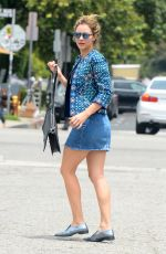 KATHARINE MCPHEE in Denim Skirt Out in West Hollywood 06/10/2016
