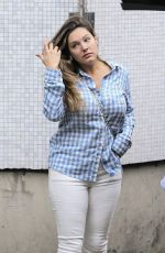 KELLY BROOK with No Make Up Arrives at ITV Studios in London 06/29/2016