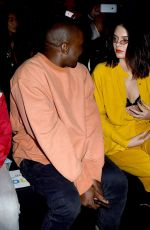 KENDALL JENNER anfd Kanye West at Moschino Resort 2017, Front Row