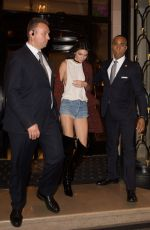 KENDALL JENNER at George V Hotel in Paris 06/24/2016