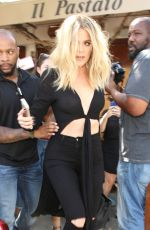 KHLOE KARDASHIAN at Il Pastaio in Beverly Hills 06/13/2016