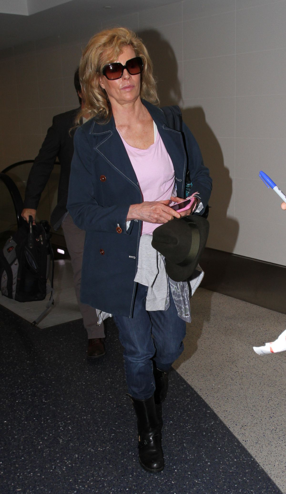 KIM BASINGER at Los Angeles International Airport 06/02/2016