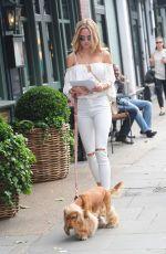 KIMBERLEY GARNER Walks Her Dog Out in London 06/25/2016