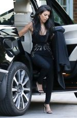 KOURTNEY KARDASHIAN Out and About in London 06/06/2016