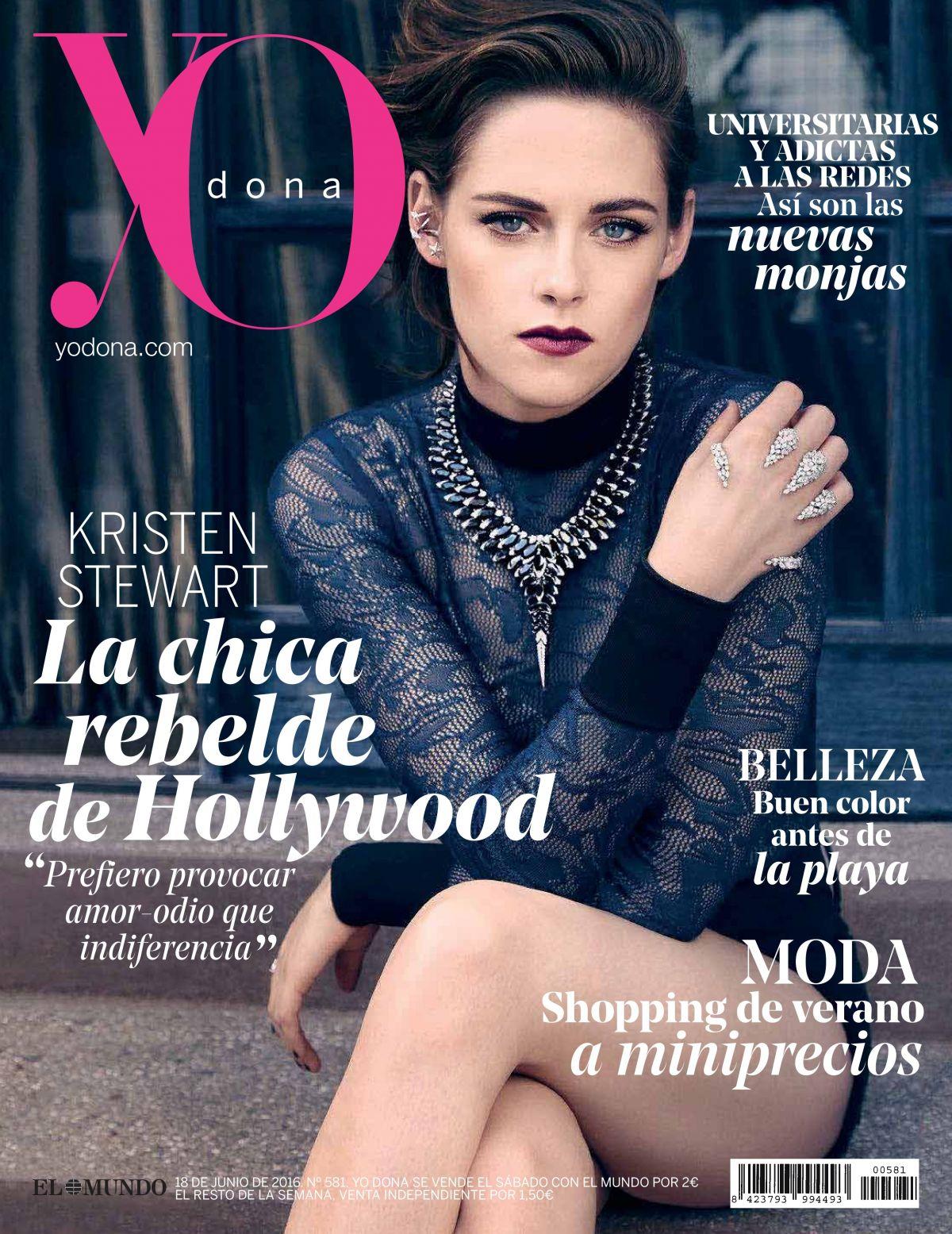 KRISTEN STEWART in Yo Dona Magazine, Spain June 2016