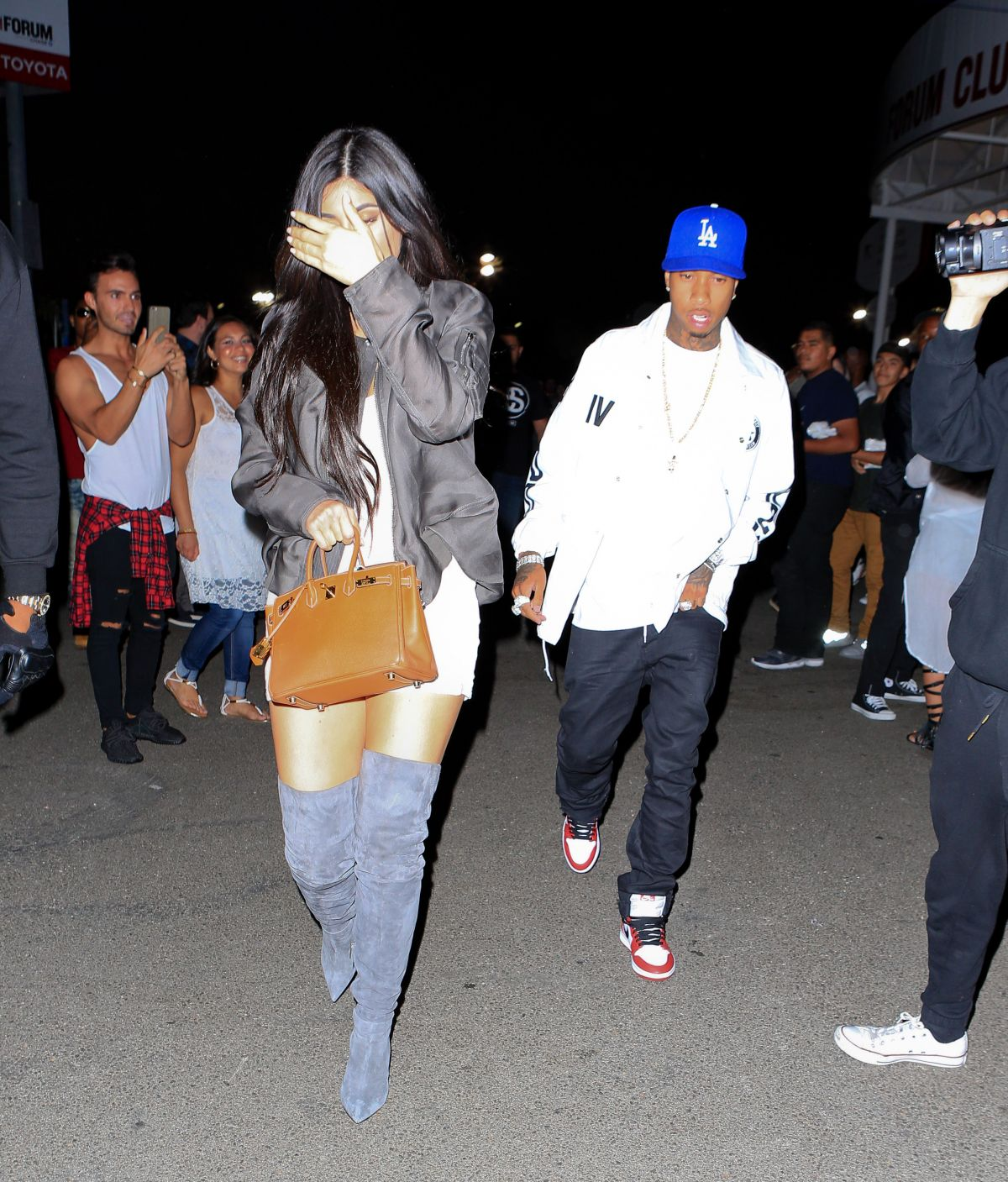 f0d4f97b9de KYLIE JENNER and Tyga at Kanye West s Concert at the Forum in Los ...