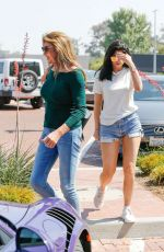 KYLIE JENNER in Shorts Out for Lunch in Malibu 06/10/2016