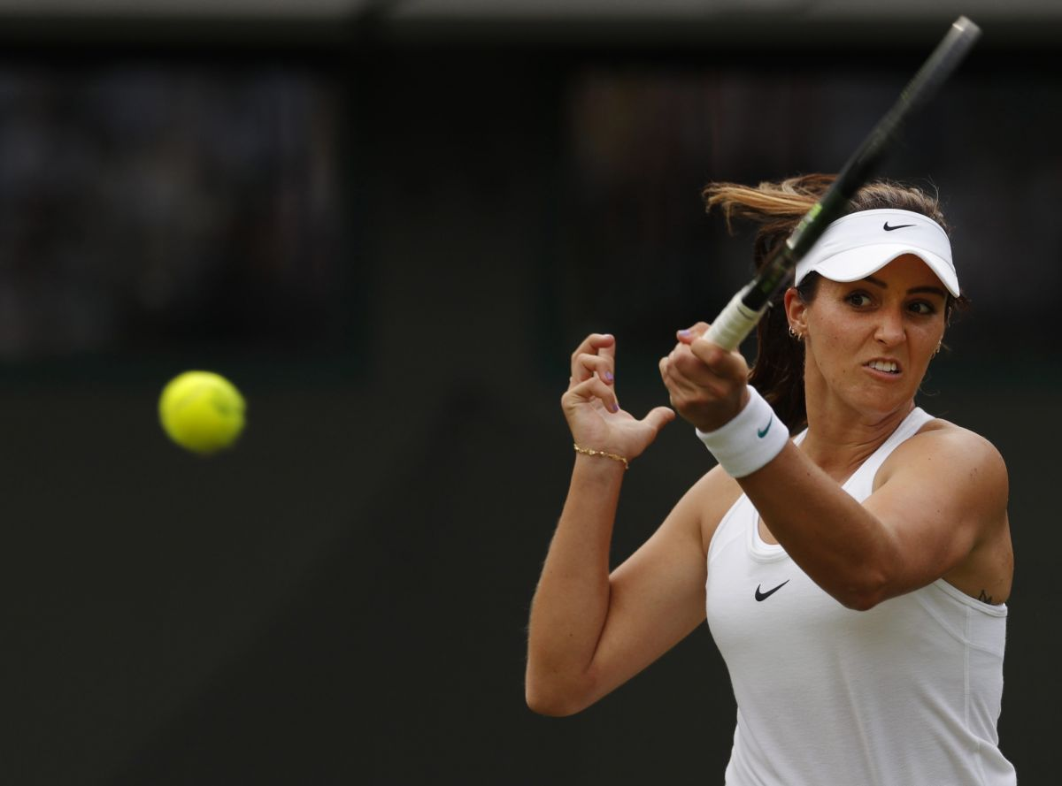 LAURA ROBSON at 1st Round at Wimbledon Tennis Championships in London 06/27/2016