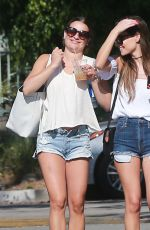 LEA MICHELE in Cut Off Out in Los Angeles 06/20/2016