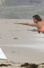 LEA MICHELE on the Set of a Photoshoot at a Beach in Malibu 06/21/2016