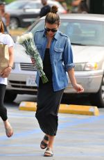LEA MICHELE Shopping at Whole Foods in Los Angeles 06/27/2016