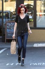 LILY COLLINS Out Shopping in West Hollywood 06/20/2016