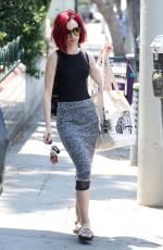 LILY COLLINS Shopping at Whole Foods in West Hollywood 06/21/2016