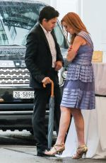 LINDSAY LOHAN and Egor Tarabasov Out in Zurich 06/13/2016