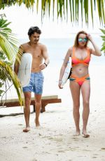 LINDSAY LOHAN in Bikini at a Beach in Mauritius 06/06/2016