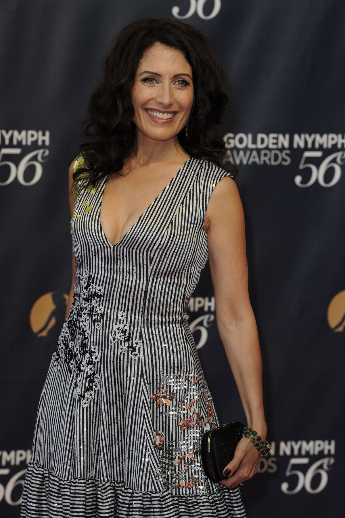 LISA EDELSTEIN at 56th Monte-carlo Television Festival Closing Golden Nymph Awards in Monaco 06/16/2016