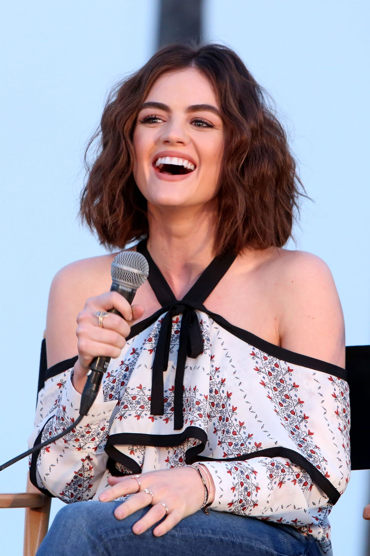 LUCY HALE at Pretty Little Liars Season 7 Panel in Los Angeles 06/15/2016