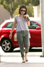 LUCY HALE Out and About in Los Angeles 06/08/2016