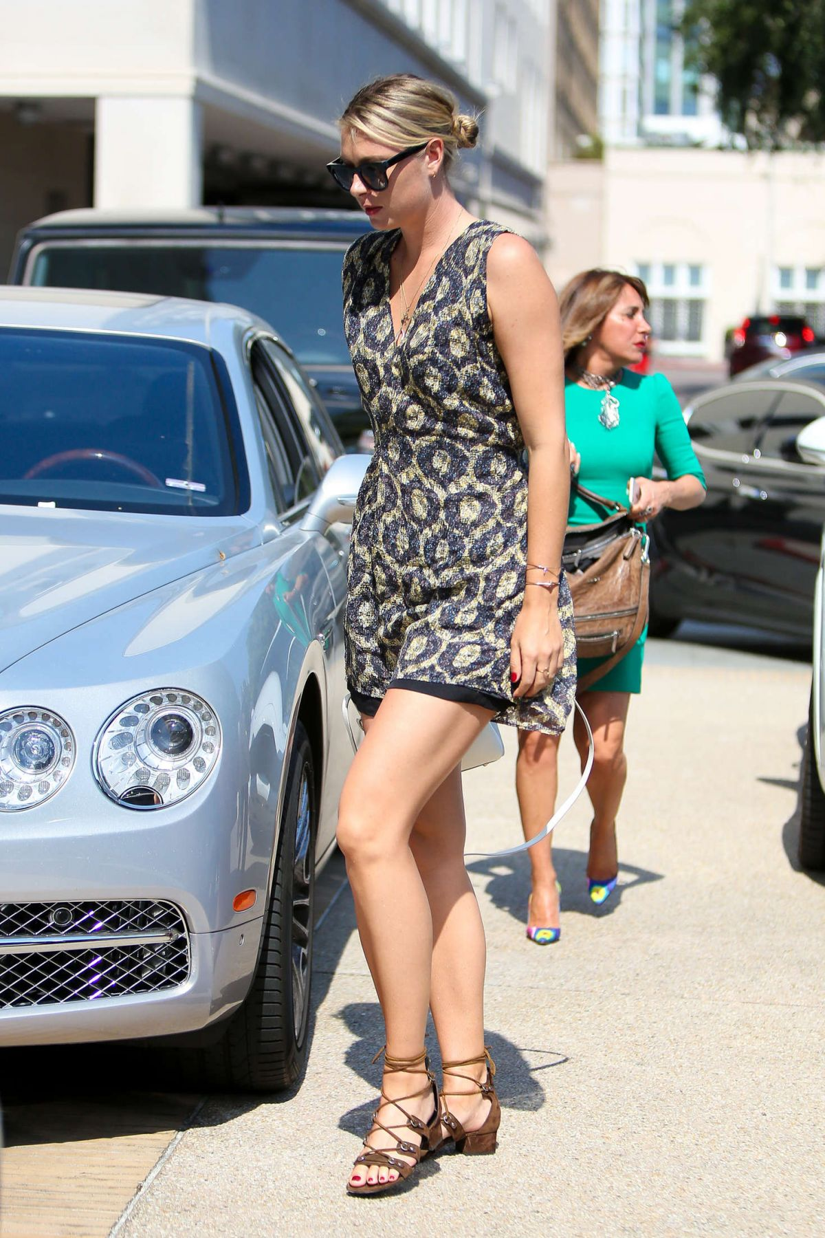 Maria Sharapova In Short Dress At Il Pastaio Beverly Hills 06 22 2016