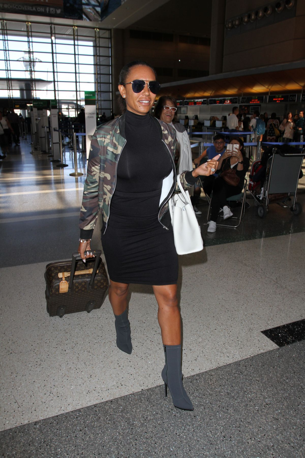 MELANIE BROWN at LAX Airport in Los Angeles 06/16/2016