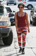 MELANIE BROWN in Tights Out Jogging in Beverly Hills