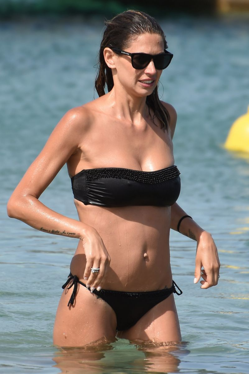 MELISSA SATTA in Bikini on the Beach in Porto Cervo  06/26/2016