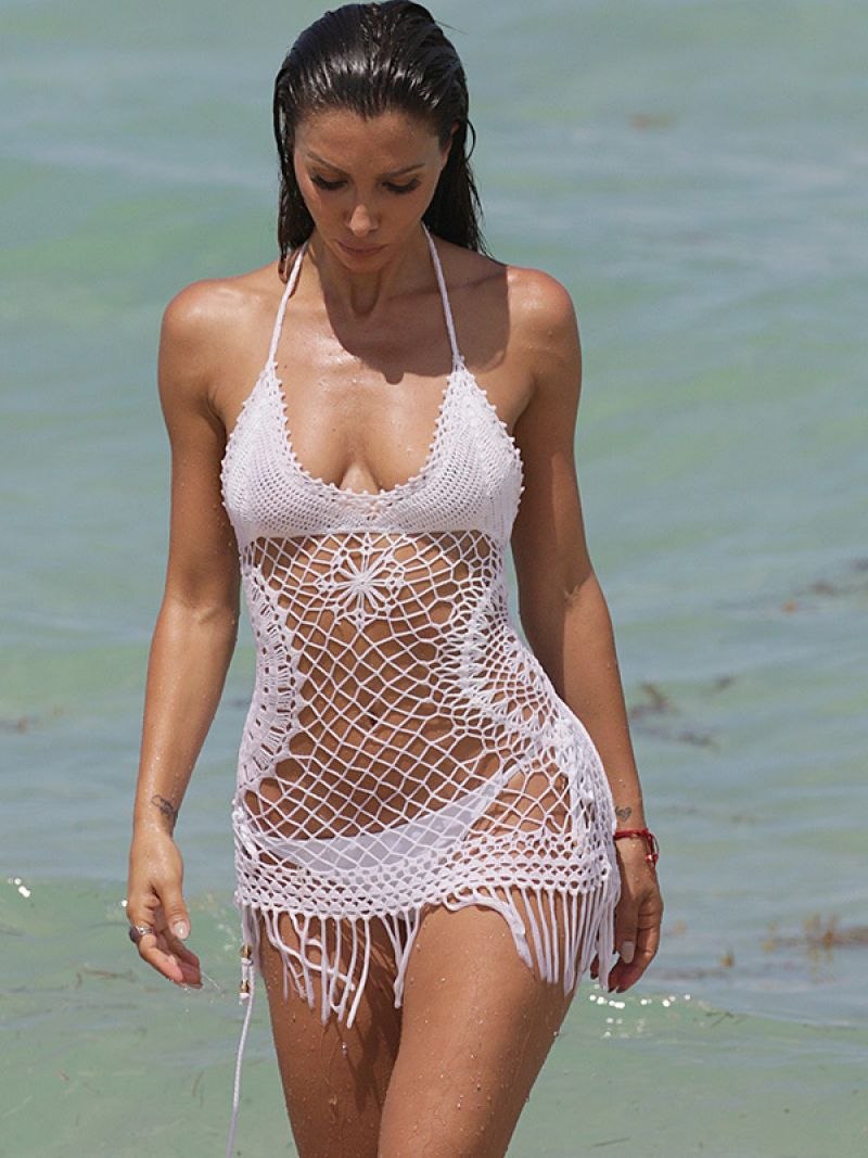 METISHA SCHAEFER in Bikini at a Beach in Miami