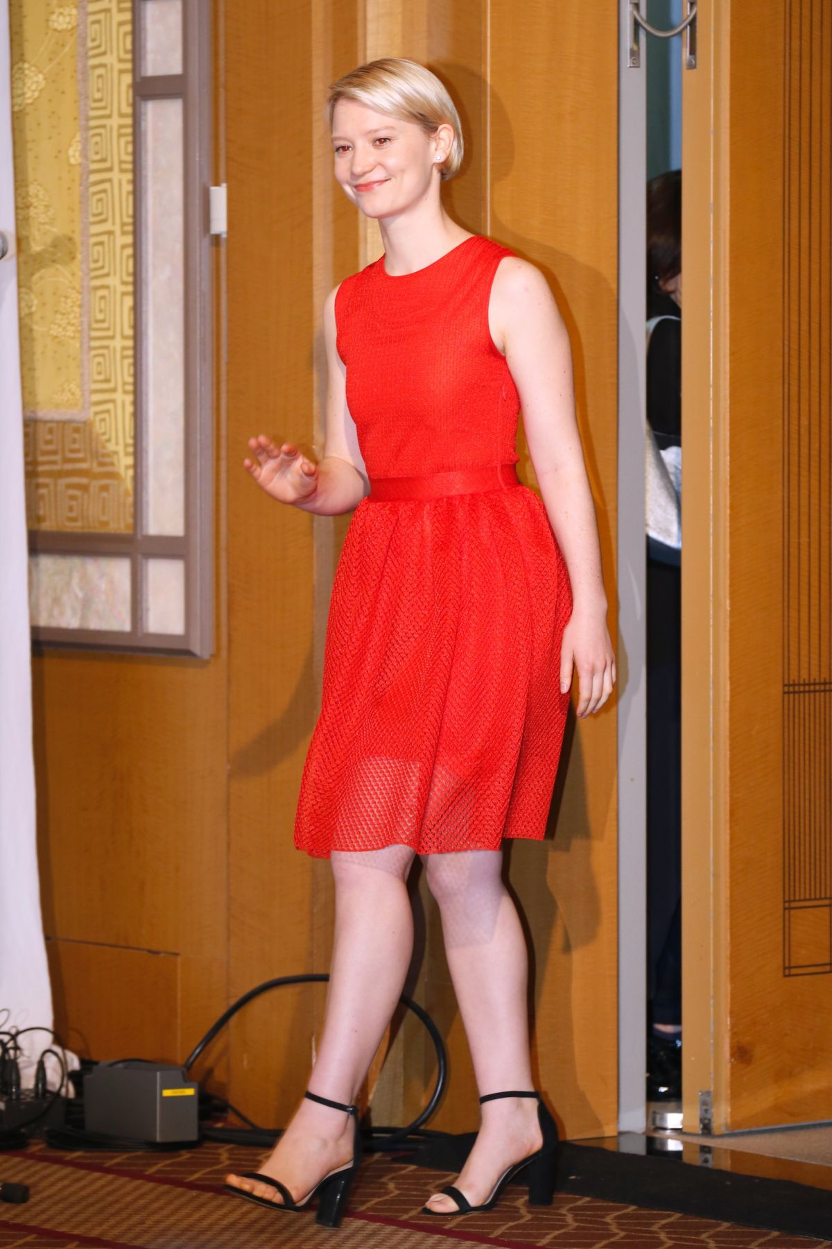 MIA WASIKOWSKA at Alice Through the Looking Glass Press Conference in Tokyo 06/20/2016