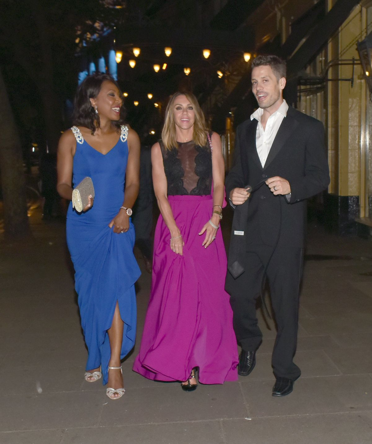 MICHELLE HEATON and KELLI YOUNG Leaves Waldorf Charity Ball in London 06/09/2016