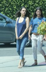 MILA KUNIS Out and About in Los Angeles 06/21/2016