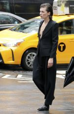 MILLA JOVOVICH on the Set of a Photoshoot for Vogue in New York 06/08/2016