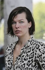 MILLA JOVOVICH Out and About in Los Angeles 06/14/2016