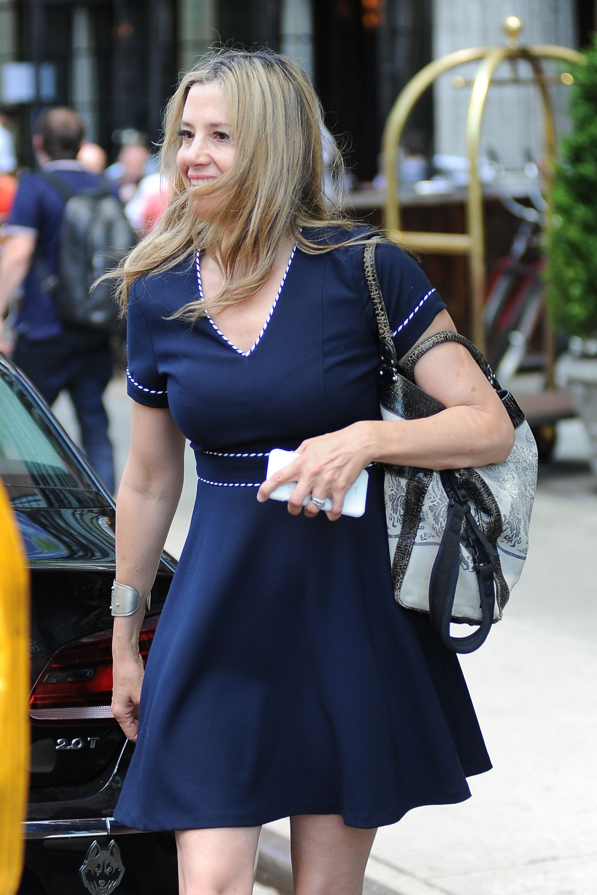 MIRA SORVINO Out and About in New York 06/07/2016