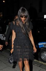 NAOMI CAMPBELL Night Out in London 06/24/2016