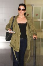 NEVE CAMPBELL at LAX Airport in Los Angeles 06/15/2016