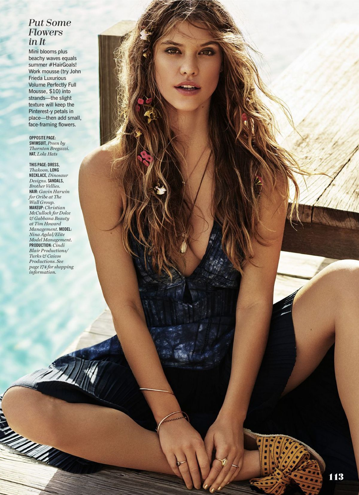 NINA AGDAL in Cosmopolitan Magazine, July 2016 Issue