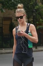 NINA AGDAL Out and About in New York 06/13/2016