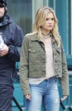 OLIVIA HOLT on the Set of