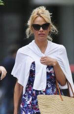 PAMELA ANDERSON Out Shopping in Santa Monica 06/23/2016